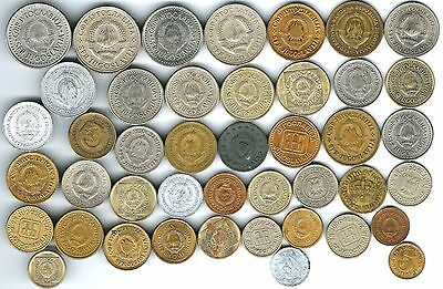 43 different world coins from YUGOSLAVIA some scarce