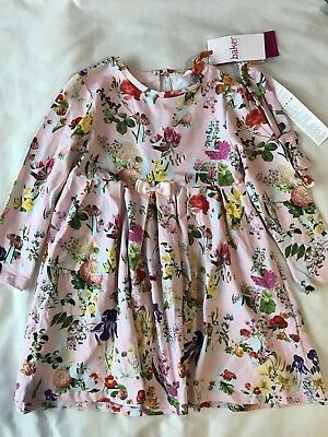 56aeff990 Ted Baker Girls' light pink floral print dress & headband set Age 4-5