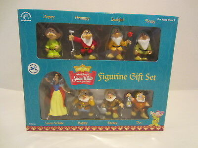 DISNEY CLASSICS SNOW WHITE & Dwarves Figurine Gift Set NEW IN BOX Vintage