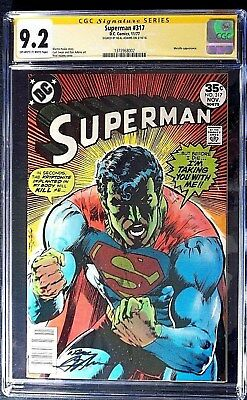 Superman #317 CGC 9.2 SS Neal Adams signed, Kryptonite cover  Nov. 1977
