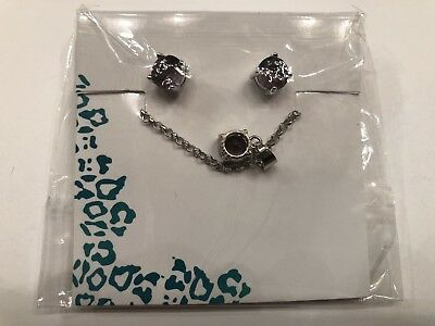Princess Cruises EFFY Purple Studded Ear Rings and Pendant