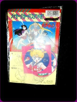 Vintage Sailor Moon message card  with stand  Seika Japan