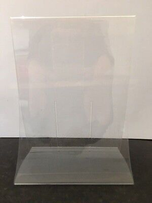 Double Sided Sign Holder Acrylic Retail Display Stands Menu 10Pc