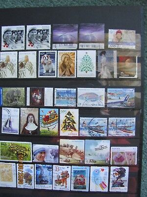 Stamps - Page Of Australian Recent Issue - Sheet/p&s Type  Used Off Paper
