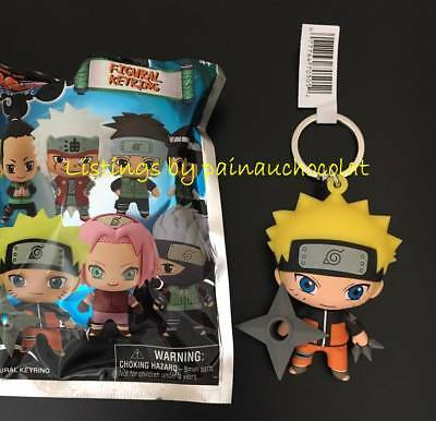 NEW NARUTO SHIPPUDEN 3D Figural Keyring Series KEYCHAIN Opened Blind Bag