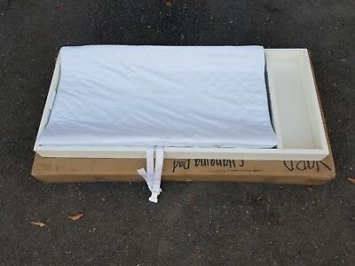 New Pottery Barn Kids Changing Table Topper in Simply White with Changing Pad