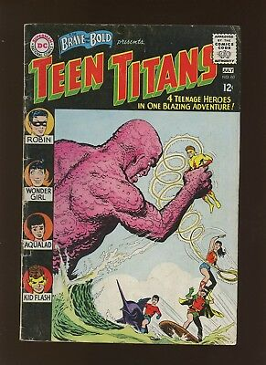Brave and the Bold 60 GD/VG 3.0 * 1 Book Lot * 1st Teen Titans & Seperated Man!