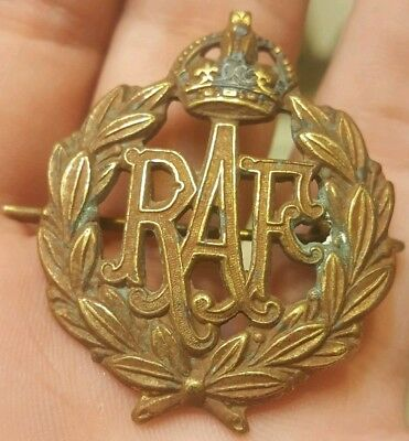 Rare Vintage Ww2 Wwii Royal Canadian Air Force Aviator Hat Badge Pin Medal Look