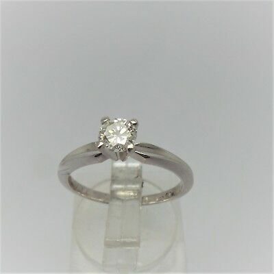 18Ct White Gold Diamond Solitaire Ring Valued @$2442 Comes With Valuation