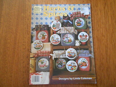 Herbs & Spices Cross Stitch Leaflet - Jeremiah Junction Designs - Good Condition