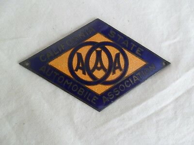 Vintage AAA California State Automobile License Plate Badge