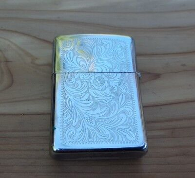 Vintage ZIPPO D IV Lighter Bradford, PA, Fancy Scroll work, Excellent Condition