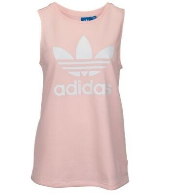 New Adidas Originals Women's Trefoil Loose Tank Top  ~Size Small  #bp9383 Pink