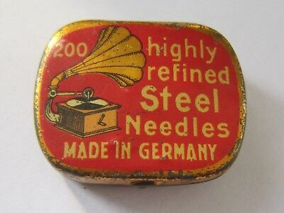 Highly Refined Steel Needles 200 Gramophone Needle Tin Made in Germany
