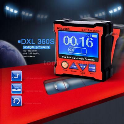 DXL360S High-precision Dual Axis Digital Angle Protractor Level Gauge O9M0