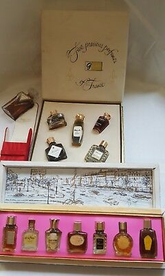 3 Beautiful sets of Vintage Miniature French Perfumes