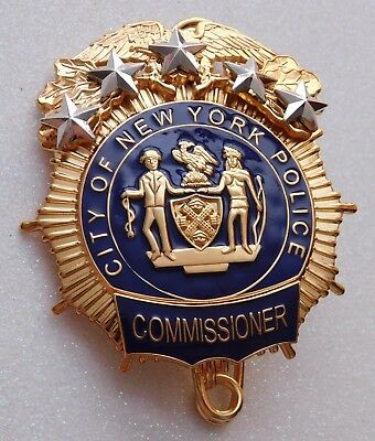 NYPD Commissioner Police Movie Prop Badge - Great Collectors Badge