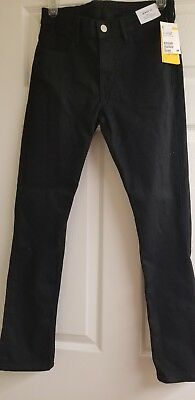 H&M Boys Skinny Fit Black Jeans Youth size  11-12 great quality!