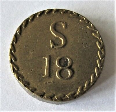 Coin Weight 18Th Century For 18 Shillings Rare
