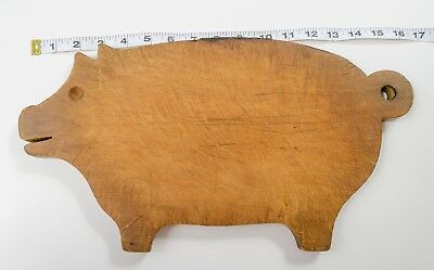 Vintage Pig Wood Cutting Board Primitive Antique Rustic Goehring Sothman Company