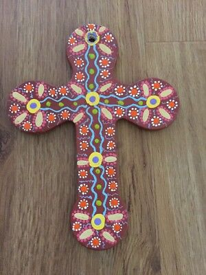 Hand Painted Ceramic Crucifix Cross Original Design