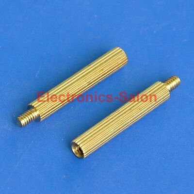 20pcs 18mm Threaded M2 Brass Male-Female Standoff, Spacer.
