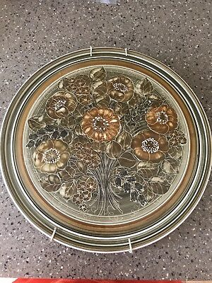 """Vintage Retro Design Jersey Pottery Wall Plate Plaque 11"""" Collectible"""