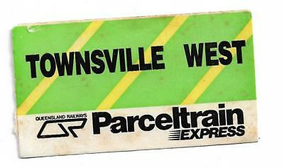 QR Parcel Train Express Label Townsville West Unused Smaller Size
