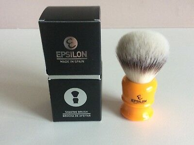 Epsilon synthetic silvertip fibre shaving brush, BNIB, LOW-START, NO-RESERVE