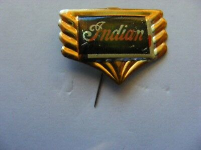 INDIAN motorcycle very old pin badge ,1950s,tinplate/tinlitho.