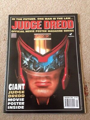 2000AD Judge Dredd Official Movie Poster Magazine Issue Number 1 Rare Stallone