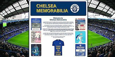 CHELSEA memorabilia website Business with stock, free web hosting *NOT affiliate