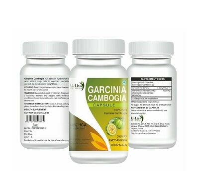 Pure Garcinia Cambogia Extract for Weight Loss 60 capsules, 1000mg with 60% HCA