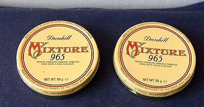 2 x dunhill My Mixture 965 - alt, voll - collectible pipe tobacco tins vacuum 2