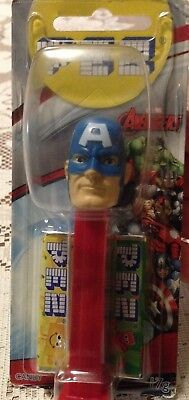 COLLECTIBLE PEZ Dispenser CAPTAIN AMERICA Marvel Avengers + CANDY IN PACK