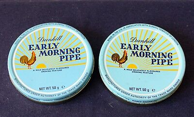 2 x dunhill Early Morning Pipe - alt, voll - collectible pipe tob. tins vacuum 2