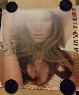 "Jennifer Lopez-""Rebirth""- Original Promo Poster 24"" x 24"" inches"