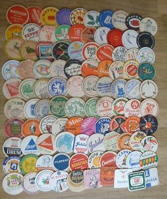Collection of 200+ 1950's and 1960's Beermats