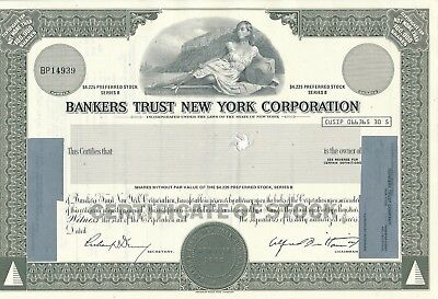 Bankers Trust New York Corporation Aktie USA