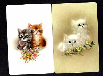 Vintage Swap/Playing Cards -  Gorgeous Giordano Kittens Pair (MINT)