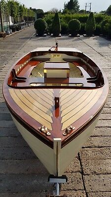 14ft Traditional Clinker Wooden Motor Launchboat