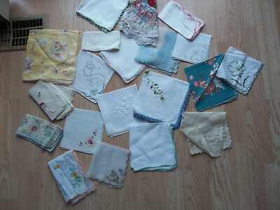Lot of 23 Vintage Hankies