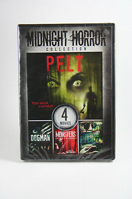 Midnight Horror DVD NEW Pelt / Dogman / Monsters In The Woods / The Eves 4 Films