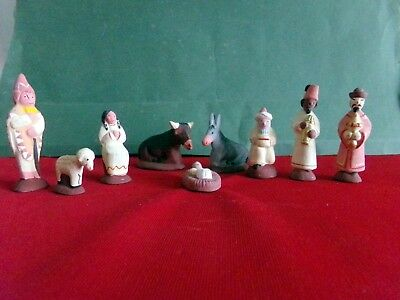 Santon  creche    WALL   lot de 9 santons voir photo  dim 6cm voir photos