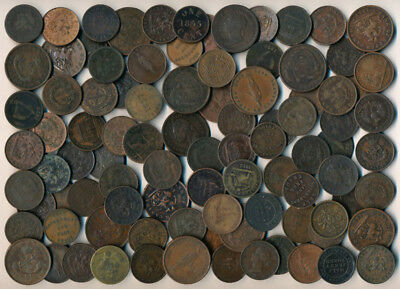 95 Old Canada Tokens & Coins (Worth Your Time To View) No Reserve