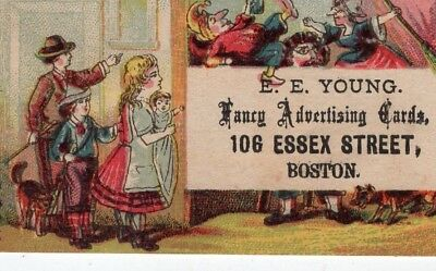 1800's Victorian Trade Card - E E Young Fancy Cards -Boston - View Other Cards