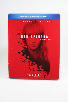 Red Sparrow [Blu-ray + DVD + Digital]  Brand NEW w/ Slipcover Jennifer Lawrence