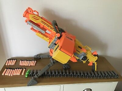 Nerf Havok Fire Vulcan EBF-25 Elite Gun Blaster N-Strike Havoc + Full Ammo Belt