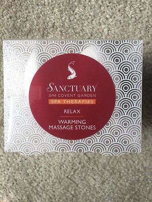 BNIB Sanctuary Spa Warming Massage Stones - RELAX Covent Garden THERAPIES new