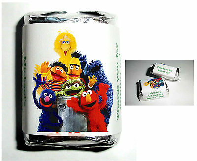 60 Sesame Street Birthday Party Favors Candy Wrappers